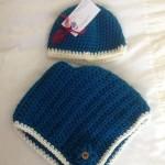 Stunning Handmade Crocheted Hat and Poncho