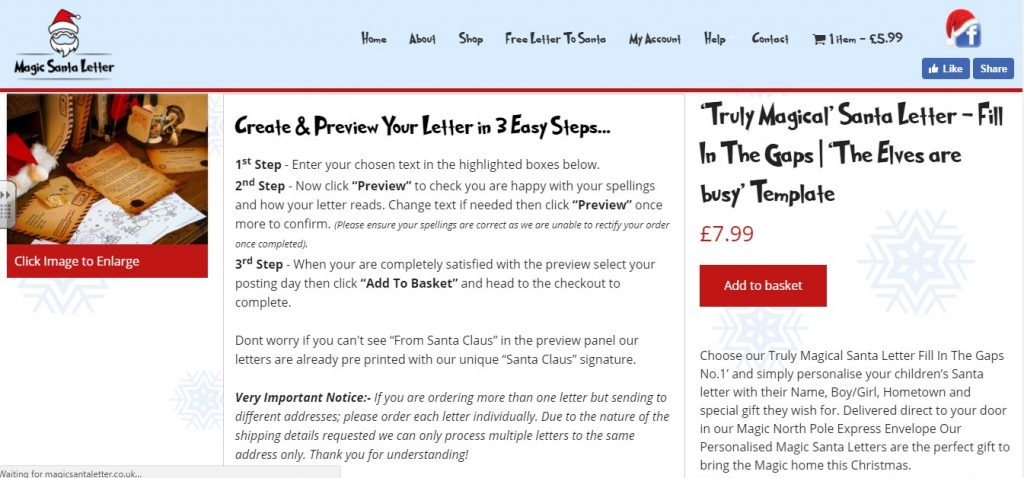 magic santa letter review and 25 discount code what mummy thinks