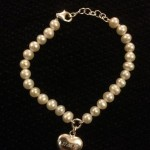 Beautiful Personalised Pearl and Silver Bracelet
