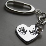 Treasured Keepsakes Silver Keyring