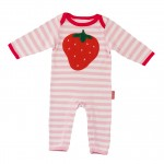 Win a Toby Tiger 100% Organic Cotton Sleepsuit in either Pirate Appliqué or Strawberry Appliqué Design