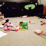 With a toddler comes mess and plenty of it.