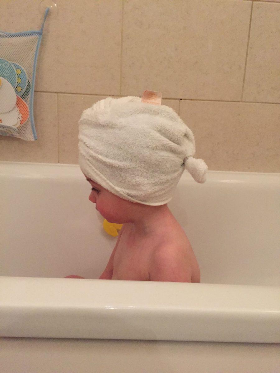 The Original Cuddledry Apron and Cuddletwist Hair Towel - What Mummy ...