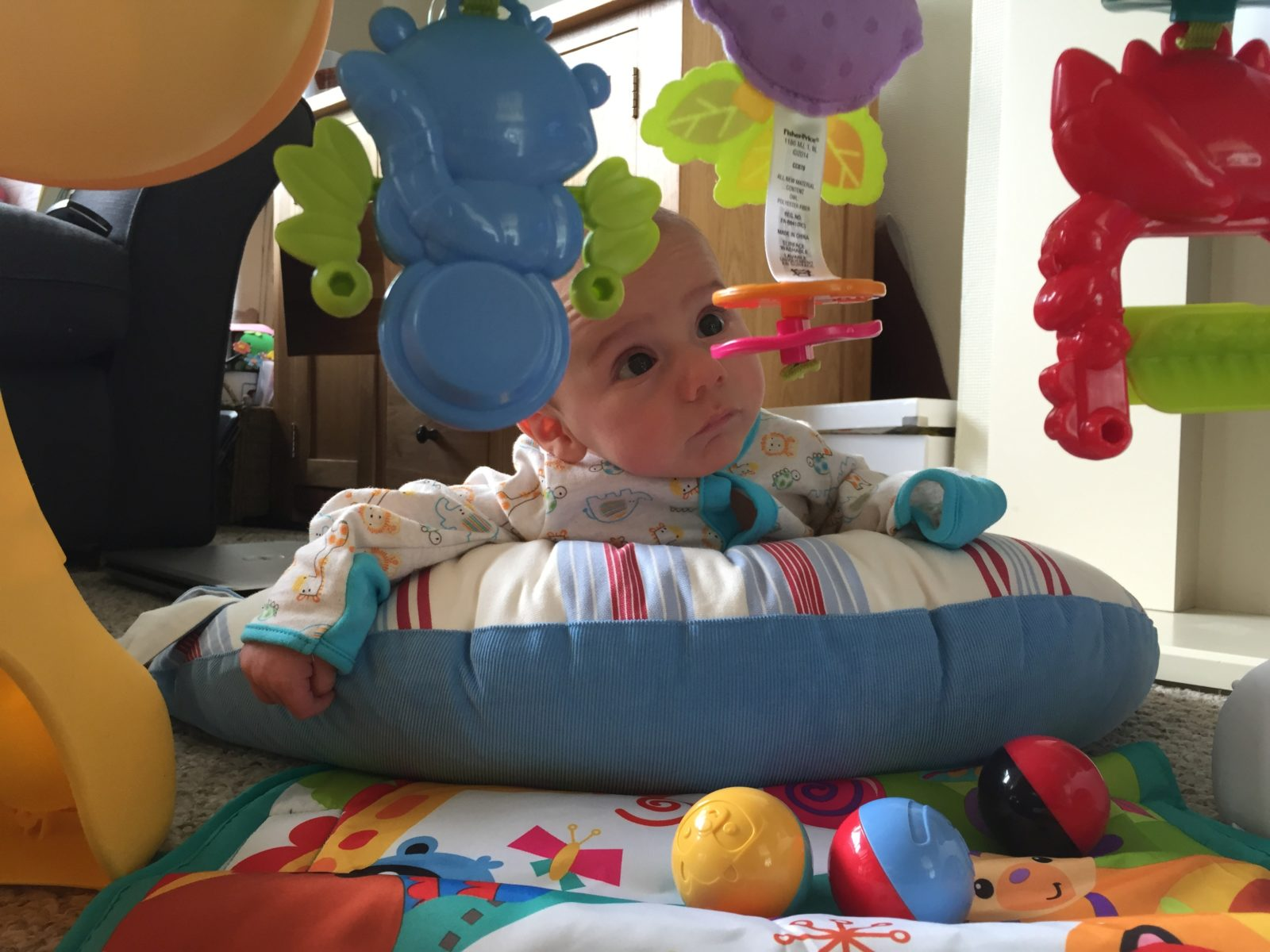 tomy print play lpr n months mats water age infant toddler mat h baby itm aqua splash
