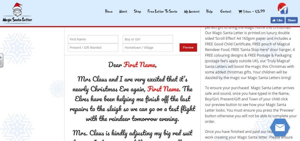 Magic Santa Letter