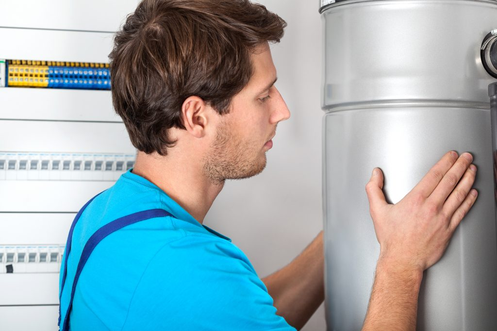 Boiler installation and handyman in boiler room