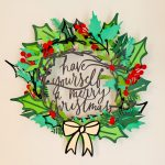 How to make a gorgeous papercut Christmas wreath